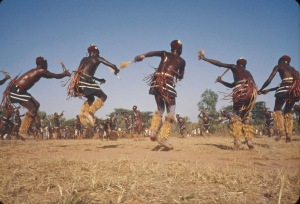 African tribal dancing