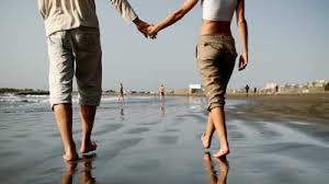 walking couple